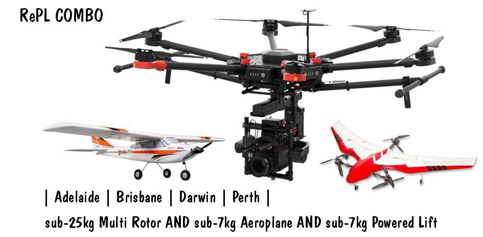 RePL sub 25MR, Sub7 Aero, Sub7 Powered LiftDrone Training