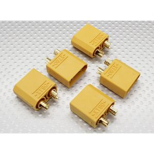 Nylon XT90 Connectors Male (5pcs/bag)