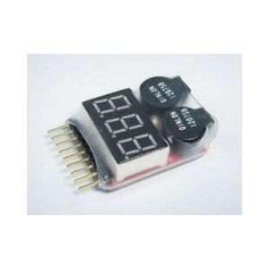 1-8S Lipo Battery LED Voltage Alarm